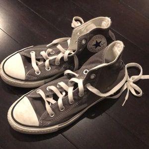 Converse high tops grey